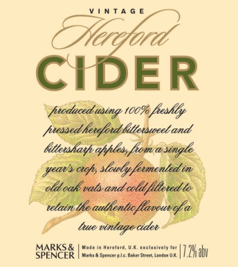 colour apple cider label aw